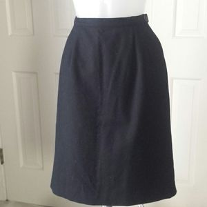 Vintage Pendleton black wool skirt